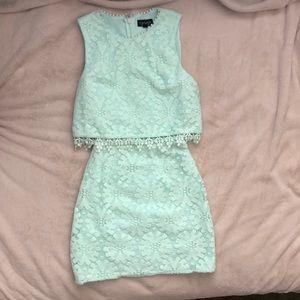 Topshop mint dress